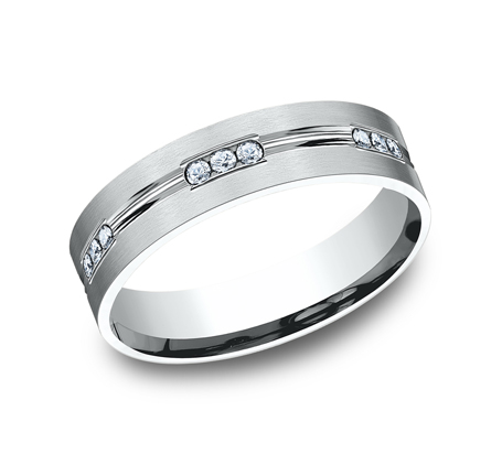 6MM COMFORT FIT ETCHED CHANNEL SET DIAMOND ETERNITY BAND CF526533W - 6MM COMFORT-FIT ETCHED CHANNEL SET DIAMOND ETERNITY BAND CF526533W