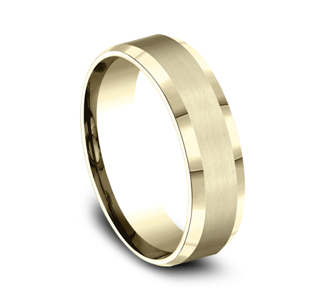 6MM COMFORT FIT SATIN FINISHED CARVED DESIGN BAND CF66416Y 1 - 6MM COMFORT-FIT SATIN-FINISHED CARVED DESIGN BAND CF66416Y