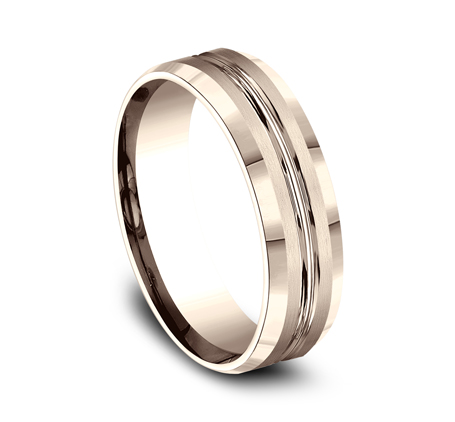 6MM COMFORT FIT SATIN FINISHED CARVED DESIGN BAND CF66439R 1 - 6MM COMFORT-FIT SATIN-FINISHED CARVED DESIGN BAND CF66439R