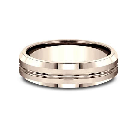 6MM COMFORT FIT SATIN FINISHED CARVED DESIGN BAND CF66439R 2 - 6MM COMFORT-FIT SATIN-FINISHED CARVED DESIGN BAND CF66439R