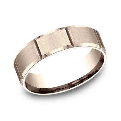 6MM COMFORT FIT SATIN FINISHED CARVED DESIGN BAND CF66449R 400x400 - 6MM COMFORT-FIT SATIN-FINISHED CARVED DESIGN BAND CF66449R