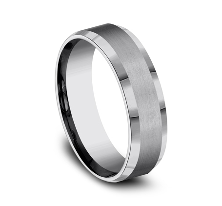 6MM COMFORT FIT TUNGSTEN BAND CF66416TG 2 - 6MM COMFORT-FIT TUNGSTEN BAND CF66416TG