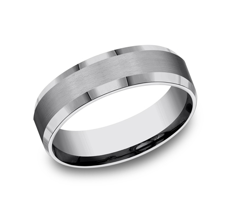 6MM COMFORT FIT TUNGSTEN BAND CF66416TG - 6MM COMFORT-FIT TUNGSTEN BAND CF66416TG