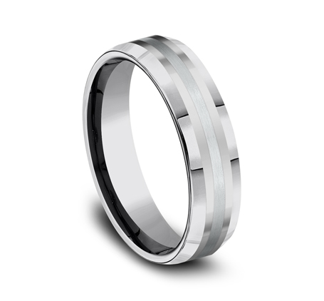 6MM COMFORT FIT TUNGSTEN BAND CF6642618KWTG 1 - 6MM COMFORT-FIT TUNGSTEN BAND CF6642618KWTG