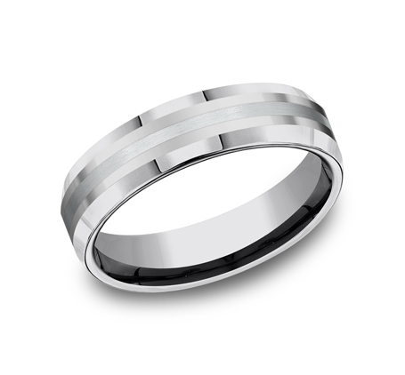 6MM COMFORT FIT TUNGSTEN BAND CF6642618KWTG - 6MM COMFORT-FIT TUNGSTEN BAND CF6642618KWTG
