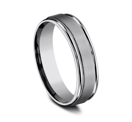 6MM COMFORT FIT TUNGSTEN BAND RECF7602STG 1 - 6MM COMFORT-FIT TUNGSTEN BAND RECF7602STG