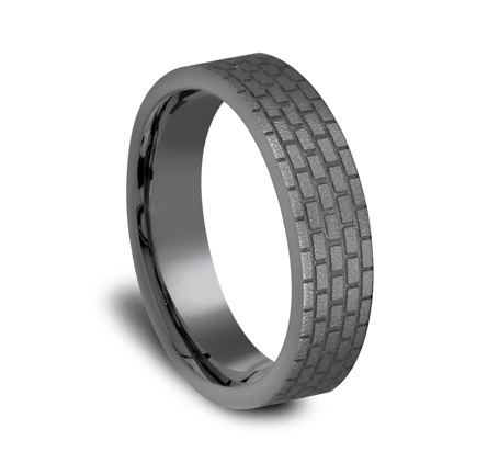 6MM GREY TANTALUM DESIGN BAND CF66331TA 2 - 6MM GREY TANTALUM DESIGN BAND CF66331TA