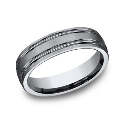 6MM TITANIUM COMFORT FIT SATIN FINISHED BAND CF56444T 400x400 - 6MM TITANIUM COMFORT-FIT SATIN-FINISHED BAND CF56444T