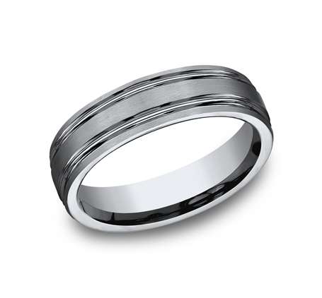 6MM TITANIUM COMFORT FIT SATIN FINISHED BAND CF56444T - 6MM TITANIUM COMFORT-FIT SATIN-FINISHED BAND CF56444T
