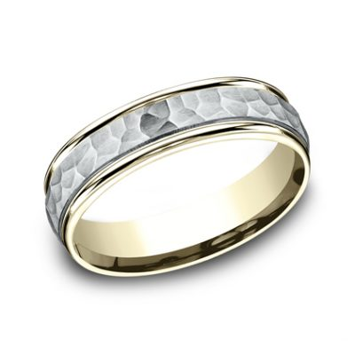 6MM TWO TONED CARVED DESIGN BAND CF156303 400x400 - 6MM TWO-TONED CARVED DESIGN BAND CF156303