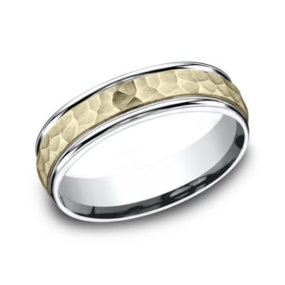 6MM TWO TONED CARVED DESIGN BAND CF176303 400x400 - 6MM TWO-TONED CARVED DESIGN BAND  CF176303