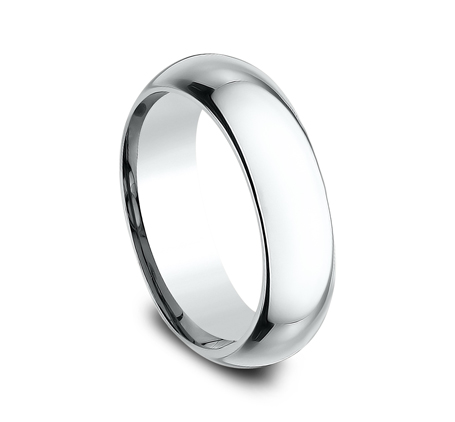 6MM WHITE GOLD BAND HDCF160W 1 - 6MM WHITE GOLD BAND HDCF160W