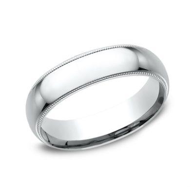 6MM White GOLD BAND LCF360W 400x400 - 6MM White GOLD BAND LCF360W