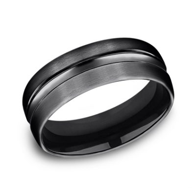 7.5MM BLACK TITANIUM COMFORT FIT BAND CF717505BKT 400x400 - 7.5MM BLACK TITANIUM COMFORT-FIT BAND CF717505BKT