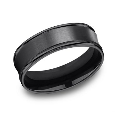 7.5MM COMFORT FIT AND SATIN FINISHED BLACK TITANIUM BAND RECF87500BKT 400x400 - 7.5MM COMFORT-FIT AND SATIN-FINISHED BLACK TITANIUM BAND RECF87500BKT
