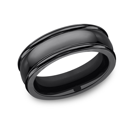 7.5MM COMFORT FIT BLACK TITANIUM BAND CF717554BKT - 7.5MM COMFORT-FIT BLACK TITANIUM BAND CF717554BKT