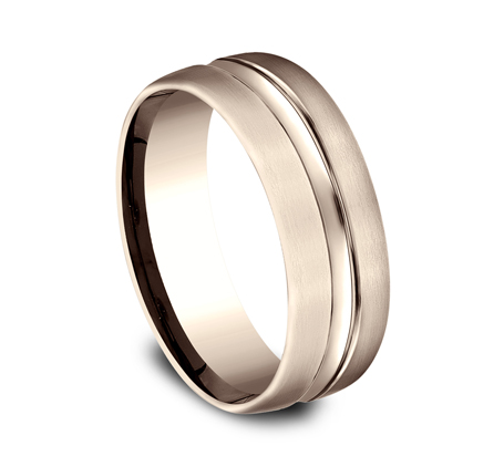 7.5MM COMFORT FIT CARVED DESIGN BAND CF717505R 1 - 7.5MM COMFORT-FIT CARVED DESIGN BAND CF717505R