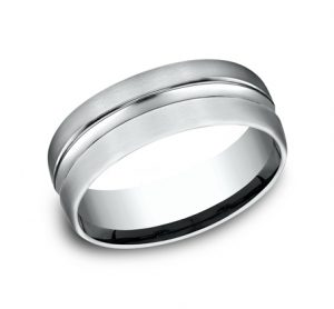 7.5MM COMFORT FIT CARVED DESIGN BAND CF717505W 300x278 - 7.5MM COMFORT-FIT CARVED DESIGN BAND CF717505W