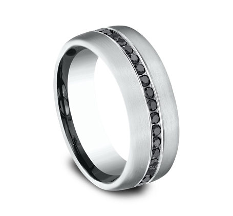 7.5MM COMFORT FIT DIAMOND BAND CF717551W 1 - 7.5MM COMFORT-FIT DIAMOND BAND CF717551W
