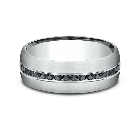 7.5MM COMFORT FIT DIAMOND BAND CF717551W 2 - 7.5MM COMFORT-FIT DIAMOND BAND CF717551W