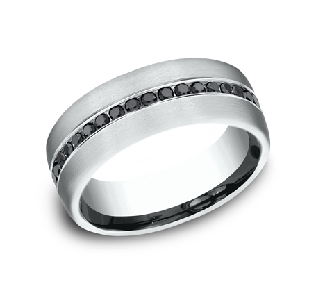 7.5MM COMFORT FIT DIAMOND BAND CF717551W - 7.5MM COMFORT-FIT DIAMOND BAND CF717551W