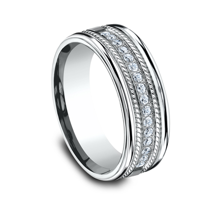 7.5MM COMFORT FIT DIAMOND BAND CF717581W 1 - 7.5MM COMFORT-FIT DIAMOND BAND CF717581W