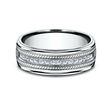 7.5MM COMFORT FIT DIAMOND BAND CF717581W 2 - 7.5MM COMFORT-FIT DIAMOND BAND CF717581W