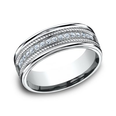 7.5MM COMFORT FIT DIAMOND BAND CF717581W 400x400 - 7.5MM COMFORT-FIT DIAMOND BAND CF717581W