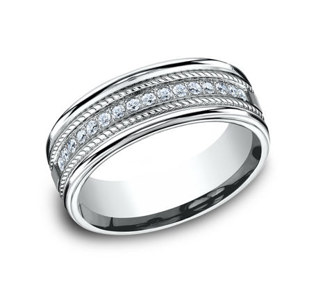 7.5MM COMFORT FIT DIAMOND BAND CF717581W - 7.5MM COMFORT-FIT DIAMOND BAND CF717581W