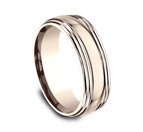 7.5MM COMFORT FIT HIGH POLISHED CARVED DESIGN BAND RECF87501R 1 - 7.5MM COMFORT-FIT HIGH POLISHED CARVED DESIGN BAND RECF87501R