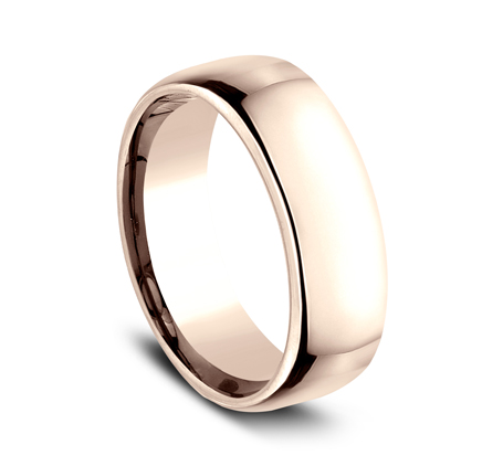 7.5MM ROSE GOLD CLASSY AND ELEGANT BAND EUCF175R 1 - 7.5MM ROSE GOLD CLASSY AND ELEGANT BAND EUCF175R