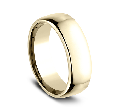 7.5MM YELLOW GOLD CLASSY AND ELEGANT BAND EUCF175Y 1 - 7.5MM YELLOW GOLD CLASSY AND ELEGANT BAND EUCF175Y