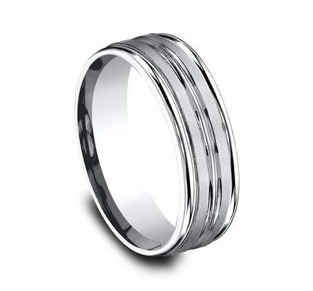 7MM ARGENTIUM SILVER COMFORT FIT BAND RECF57180SV 1 - 7MM ARGENTIUM SILVER COMFORT-FIT BAND RECF57180SV