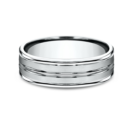 7MM ARGENTIUM SILVER COMFORT FIT BAND RECF57180SV 2 - 7MM ARGENTIUM SILVER COMFORT-FIT BAND RECF57180SV
