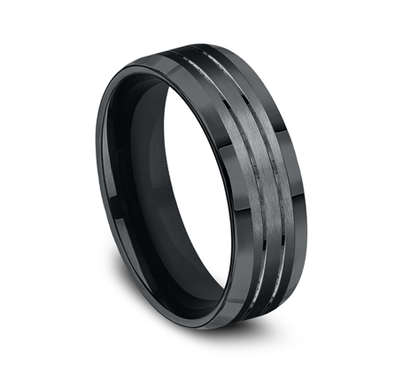 7MM COMFORT FIT BLACK COBALT BAND CF67335BKCC 1 - 7MM COMFORT FIT BLACK COBALT BAND CF67335BKCC