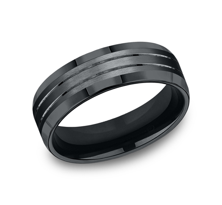 7MM COMFORT FIT BLACK COBALT BAND CF67335BKCC - 7MM COMFORT FIT BLACK COBALT BAND CF67335BKCC