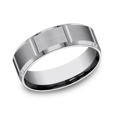 7MM COMFORT FIT SATIN FINISHED TUNGSTEN BAND CF67449TG 400x400 - 7MM COMFORT-FIT SATIN-FINISHED TUNGSTEN BAND CF67449TG