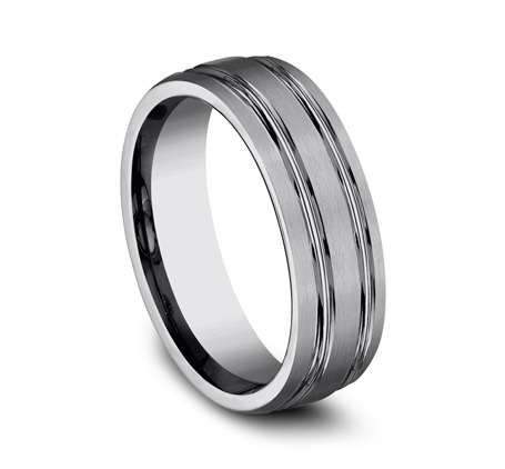 7MM COMFORT FIT TUNGSTEN BAND CF57444TG 1 - 7MM COMFORT-FIT TUNGSTEN BAND CF57444TG