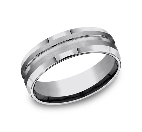 7MM COMFORT FIT TUNGSTEN BAND CF67439TG - 7MM COMFORT-FIT TUNGSTEN BAND CF67439TG
