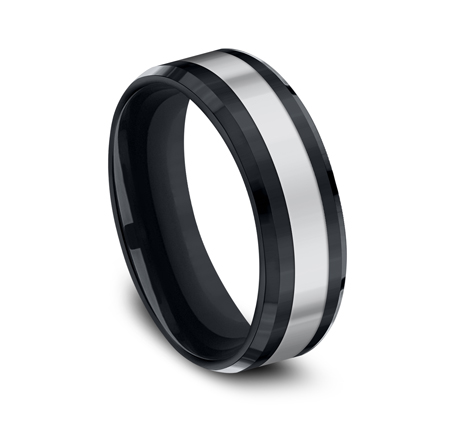 7MM COMFORT FIT TUNGSTEN BAND CF67860CMTG 1 - 7MM COMFORT-FIT TUNGSTEN BAND CF67860CMTG
