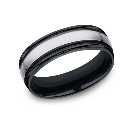 7MM COMFORT FIT TUNGSTEN BAND RECF77864CMTG - 7MM COMFORT-FIT TUNGSTEN BAND RECF77864CMTG