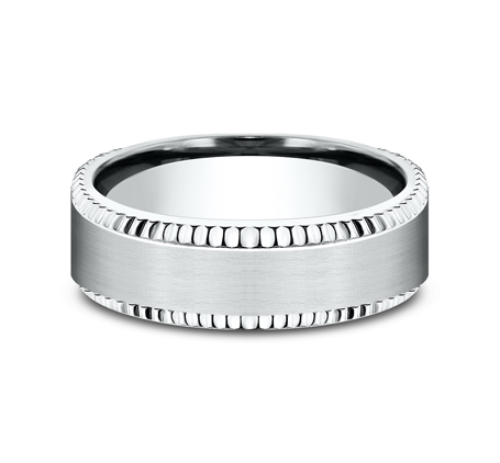 7MM COMFORT FIT WHITE GOLD BAND CF67527W 2 - 7MM COMFORT FIT WHITE GOLD BAND CF67527W
