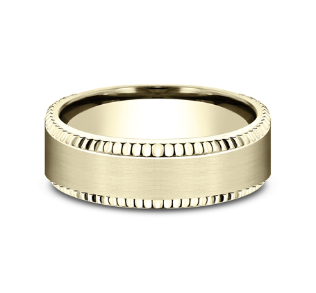 7MM COMFORT FIT YELLOW GOLD BAND CF67527Y 2 - 7MM COMFORT FIT YELLOW GOLD BAND CF67527Y