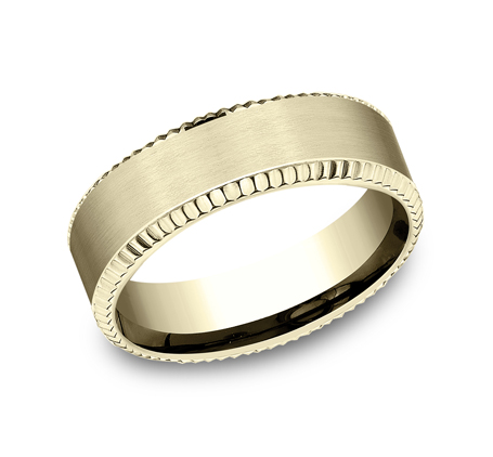 7MM COMFORT FIT YELLOW GOLD BAND CF67527Y - 7MM COMFORT FIT YELLOW GOLD BAND CF67527Y