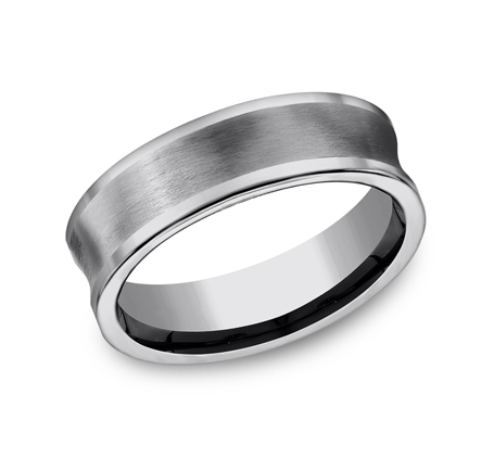 7MM CONCAVED TUNGSTEN BAND CF67001TG - 7MM CONCAVED TUNGSTEN BAND CF67001TG