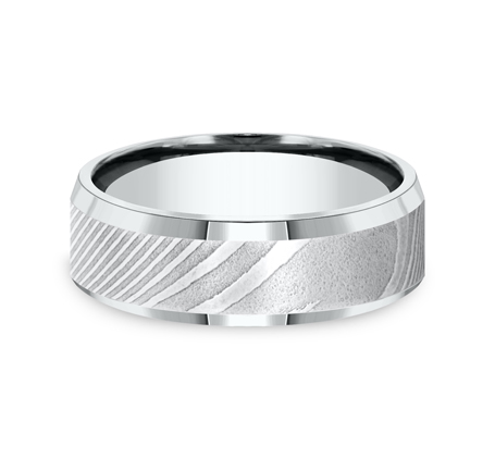 7MM DAMASCUS STEEL COMFORT FIT BAND CF67416DS 1 - 7MM DAMASCUS STEEL COMFORT-FIT BAND CF67416DS