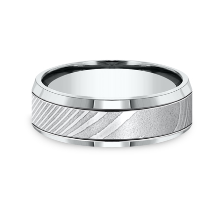 7MM HIGH POLISHED DAMASCUS STEEL BAND CF67675DS 2 - 7MM HIGH-POLISHED DAMASCUS STEEL BAND CF67675DS