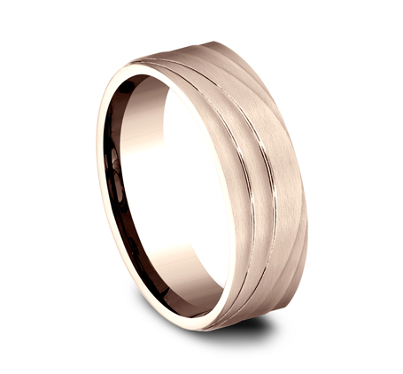 7MM ROSE GOLD BAND CF497760R 1 - 7MM ROSE GOLD BAND CF497760R