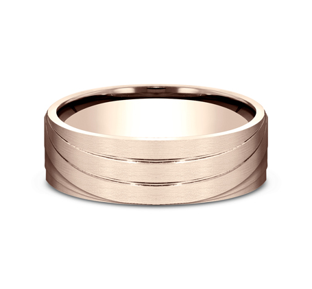 7MM ROSE GOLD BAND CF497760R 2 - 7MM ROSE GOLD BAND CF497760R