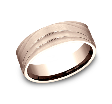 7MM ROSE GOLD BAND CF497760R - 7MM ROSE GOLD BAND CF497760R